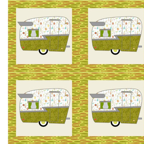 Cheater Quilt, Fill-a-Yard - Shasta_Green