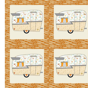 Cheater Quilt, Fill-a-Yard - Shasta_Orange