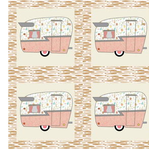 Cheater Quilt, Fill-a-Yard - Shasta_Pink