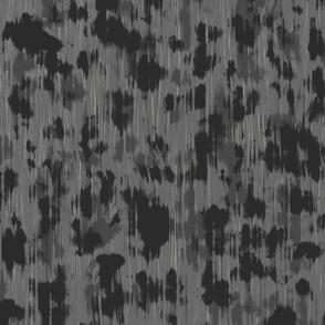 Glitchy Leopard in Grey
