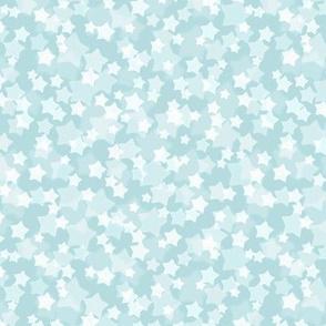 Small Starry Bokeh Pattern - Sea Spray Color