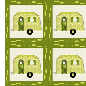 Cheater Quilt, Fill-a-Yard - Airstream1_Green