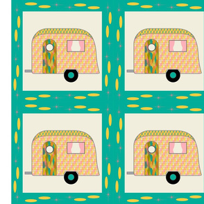 Cheater Quilt, Fill-a-Yard - Airstream1_Multi