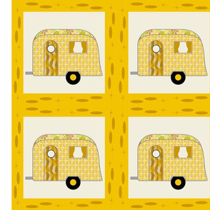 Cheater Quilt, Fill-a-Yard - Airstream1_Yellow