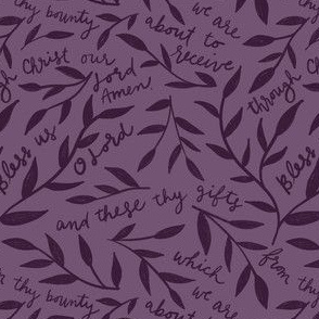 Bless us O Lord Prayer in Purple, Lent, Advent