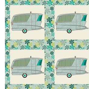 Cheater Quilt, Fill-a-Yard - Holiday House_Blue