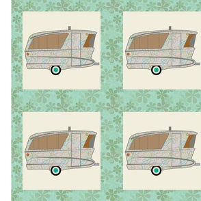 Cheater Quilt, Fill-a-Yard - Holiday House_Grey