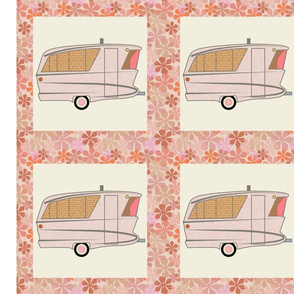 Cheater Quilt, Fill-a-Yard - Holiday House_Pink