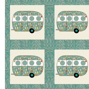 Cheater Quilt, Fill-a-Yard - Airfloat_Blue