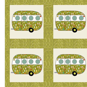Cheater Quilt, Fill-a-Yard - Airfloat_Green