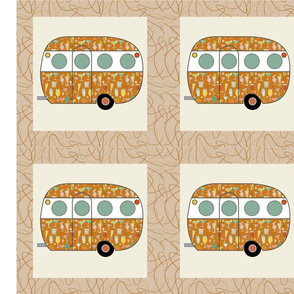 Cheater Quilt, Fill-a-Yard - Airfloat_Orange