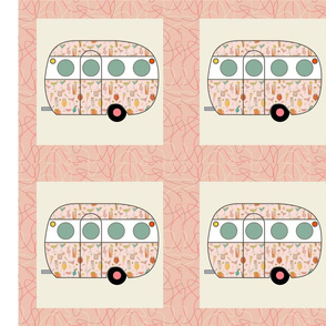 Cheater Quilt, Fill-a-Yard - Airfloat_Pink