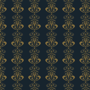 British Colonial in Gold on Navy