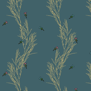 Meadow flowers on a green background | Golden Promises