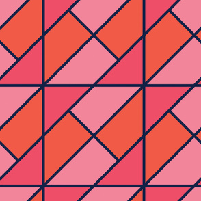 Red&Pink | Modern stained glass tiles