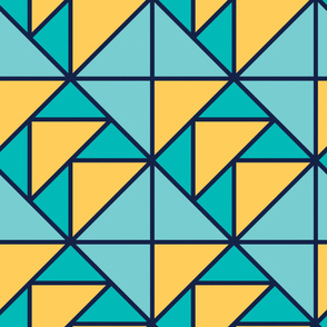 Arrows | Modern stained glass tiles