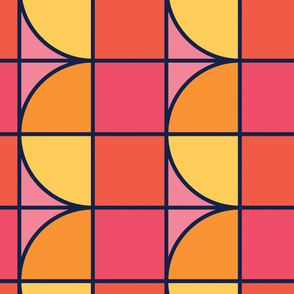 Red&Orange | Modern stained glass tiles