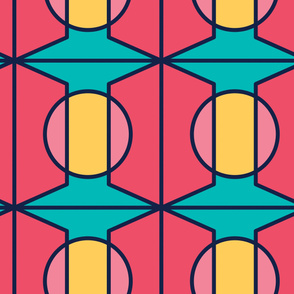 Geometrical Circles | Modern stained glass tiles