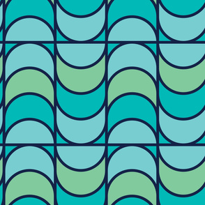 Fish Scales | Modern stained glass tiles