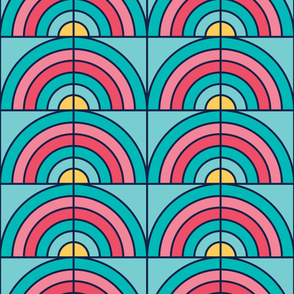 Rainbow | Modern stained glass tiles