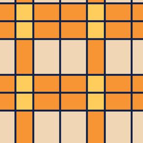 Orange Stripes | Modern stained glass tiles