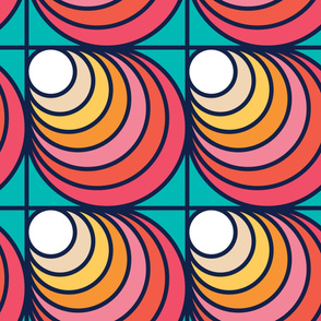 Retro Wave | Modern stained glass tiles