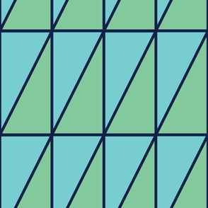 Triangles | Modern stained glass tiles