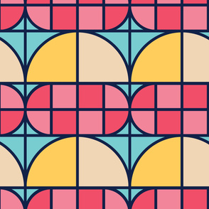 Geo Vintage | Modern stained glass tiles