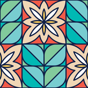 Daisy | Modern stained glass tiles