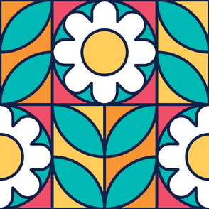 Chamomile | Modern stained glass tiles