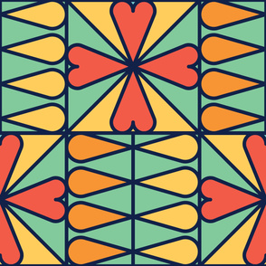 Sprouts | Modern stained glass tiles