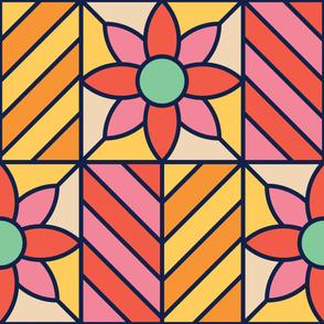 Rosette | Modern stained glass tiles