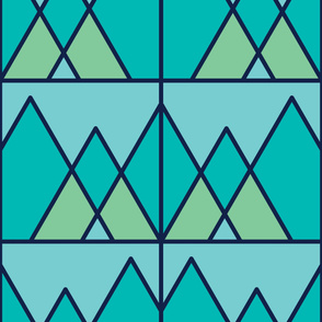 Mountains | Modern stained glass tiles
