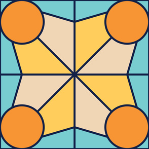 Sunshine | Modern stained glass tiles