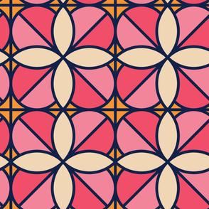 White Rosette | Modern stained glass tiles