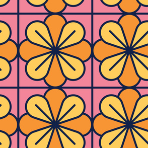 Flowers | Modern stained glass tiles