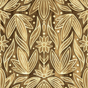 Rococo Wooden Art Deco - Large Scale