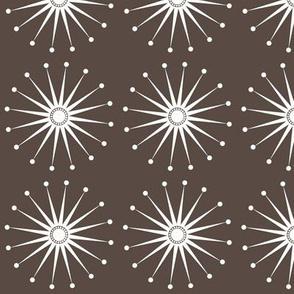 Starspangle (White on Brown)