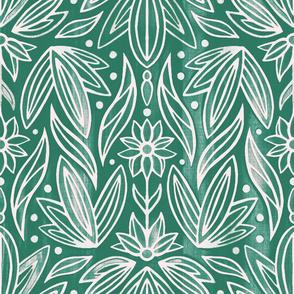 Rococo Bluish Green Art Deco - Large Scale