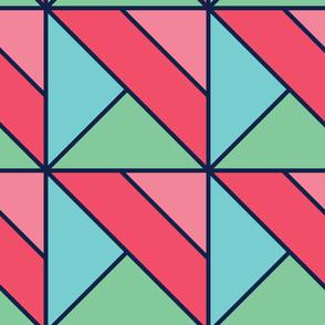 Rectangular | Modern stained glass tiles