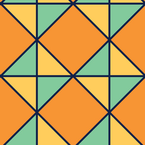 Rhombus | Modern stained glass tiles