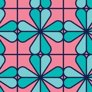 Blue Socket | Modern stained glass tiles