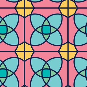 Kaleidoscope | Modern stained glass tiles