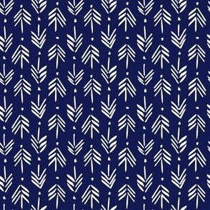 Arrows / blue and white