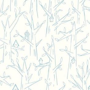 Birdhouses / baby blue