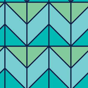 Angled Waves | Modern stained glass tiles