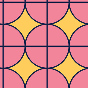 Blink Circles | Modern stained glass tiles