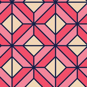 Diamond Rhombus | Modern stained glass tiles