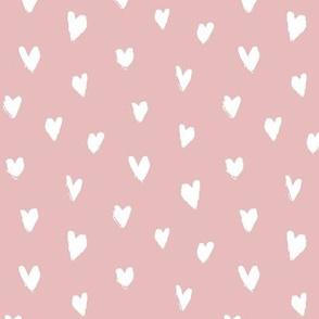 Inky Hearts / blush
