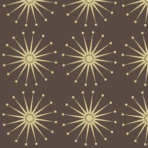 Starspangle (beige on brown)